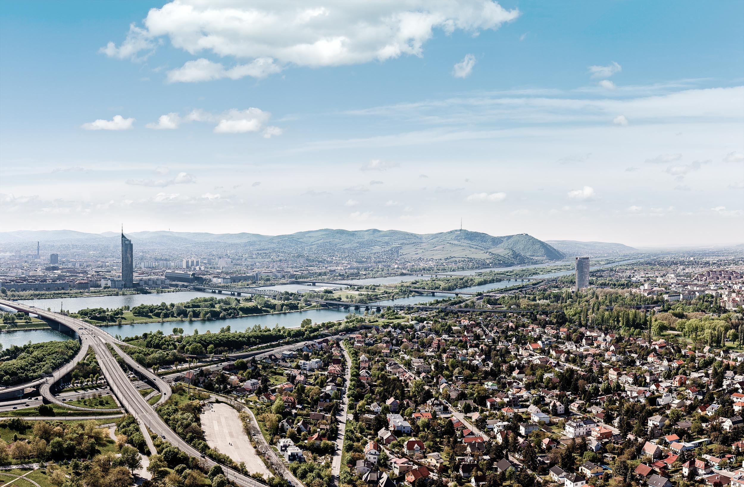 Dresdner Straße Wien - Blick über Wien