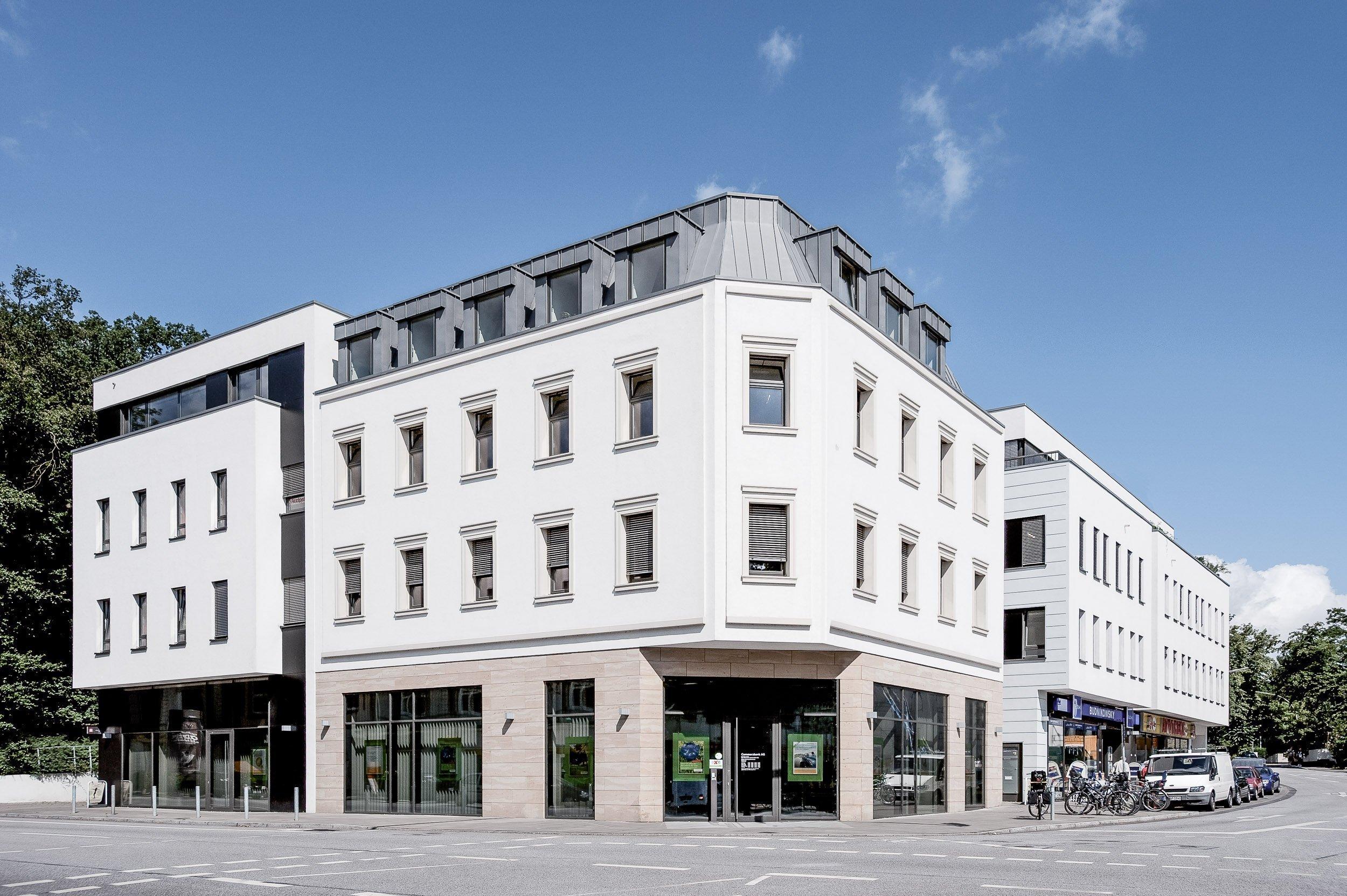 Paribus Property Portfolio - Außenansicht gesamtes Gebäude Goßlers Park Hamburg