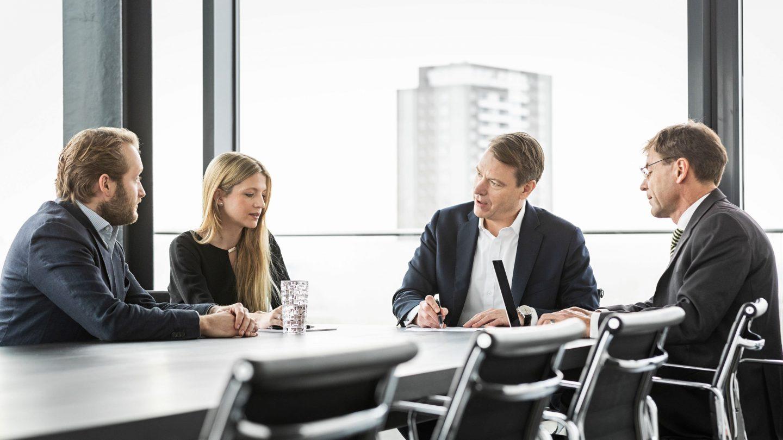 Besprechnung der Paribus Kapitalverwaltungsgesellschaft im Konferenzraum