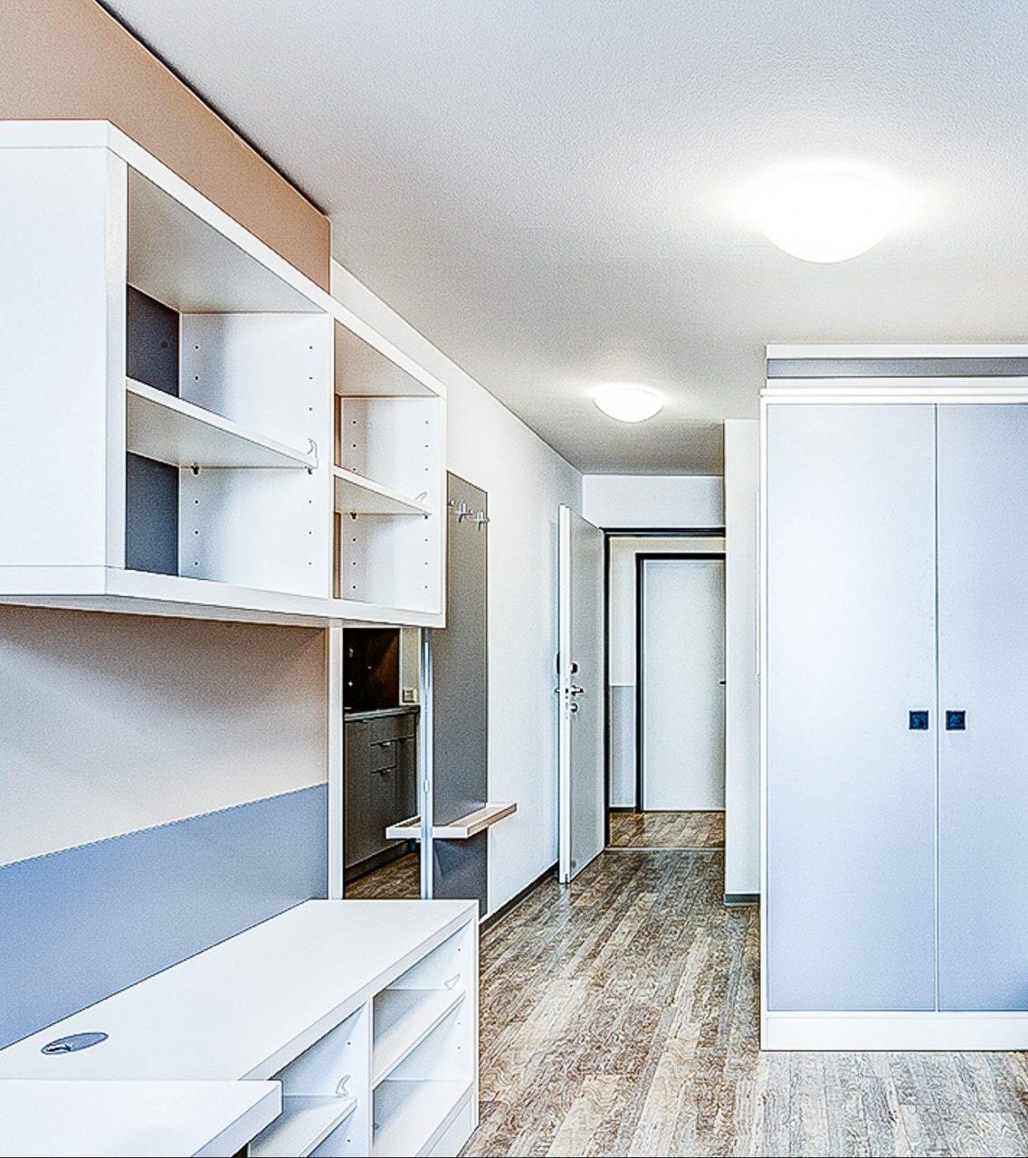 SMARTments Frankfurt - Wohnraum mit Küchenzeile