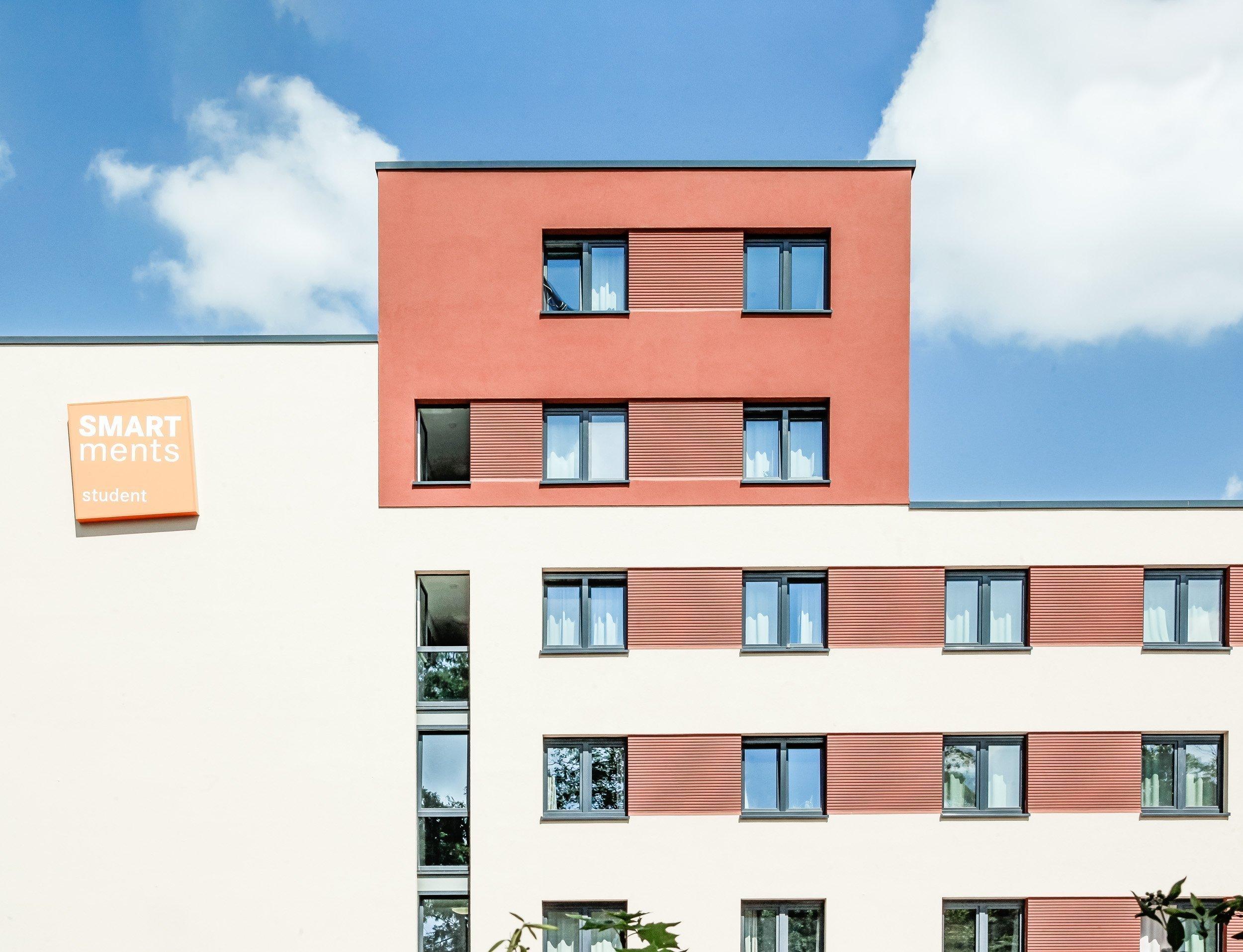 Studieren Wohnen II - Außenansicht SMARTments Mainz