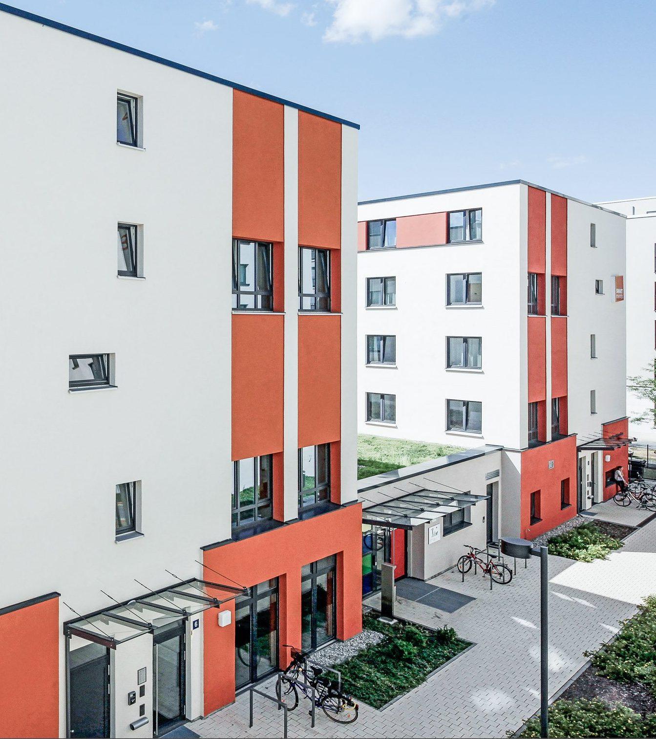 Studieren Wohnen - Außenansicht SMARTments Frankfurt