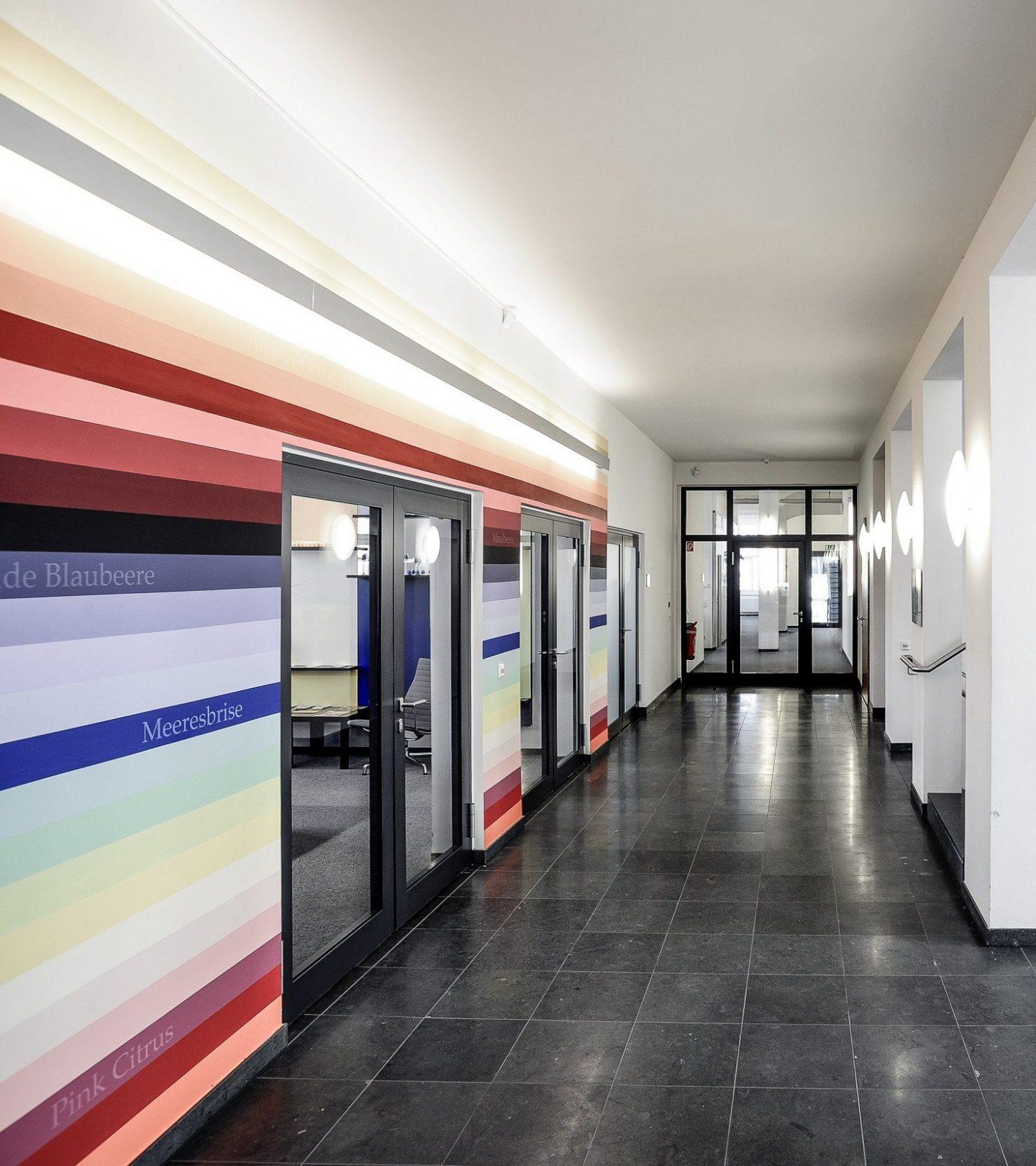 Villa Fuchs Heidelberg - Innenansicht Flur zu Büroräumen