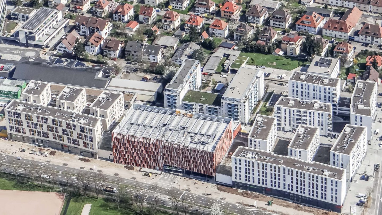 Westarkarden Freiburg - Luftbild
