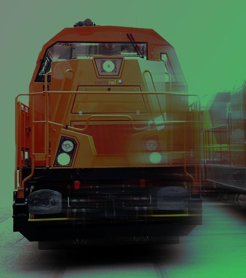 northrail-Lokomotive in Nahaufnahme