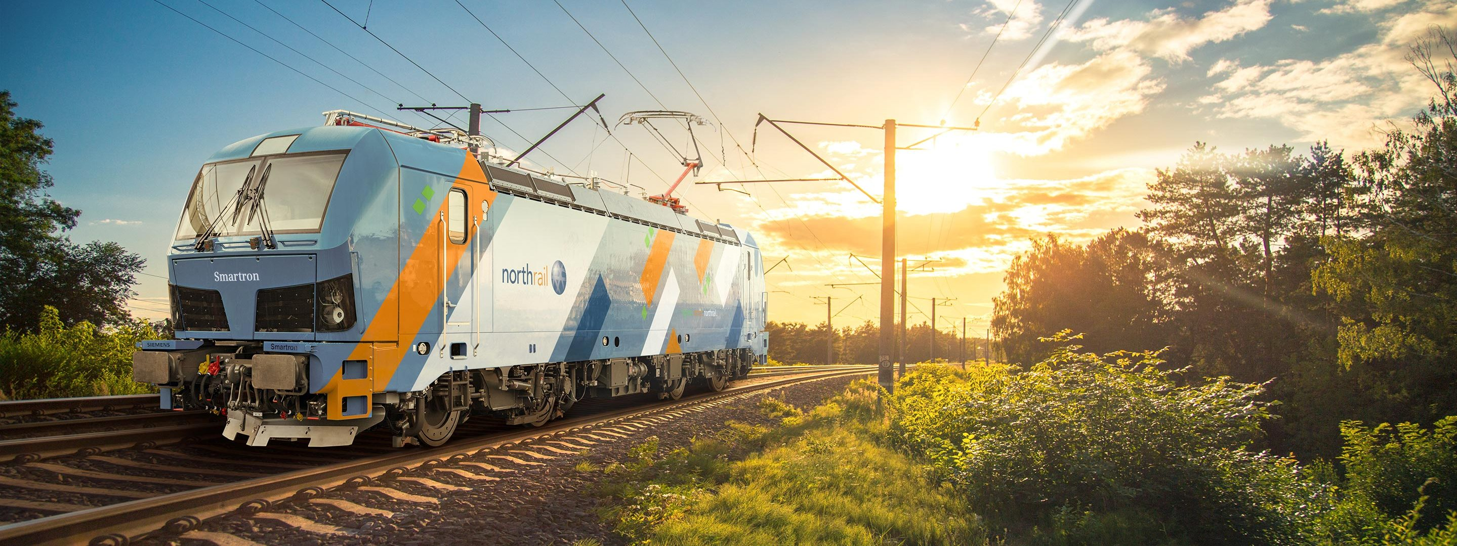 Smartron mit northrail-Beklebung