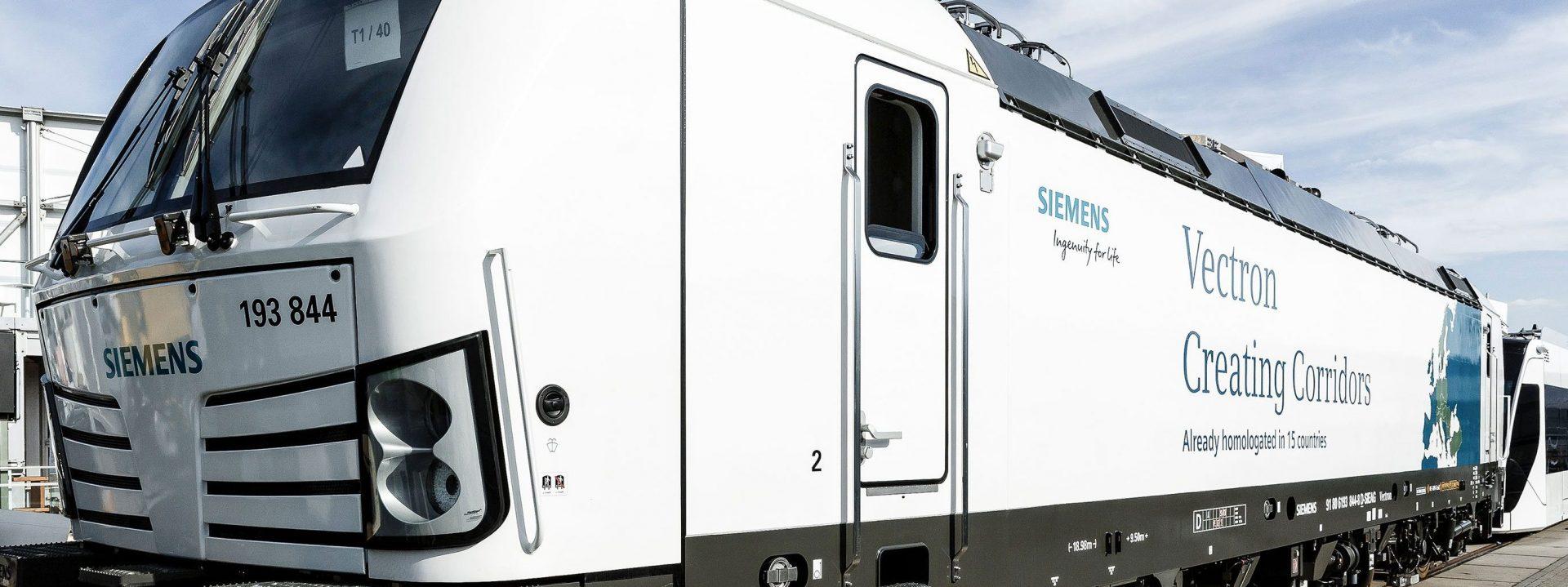 Siemens Vectron auf Gleisen