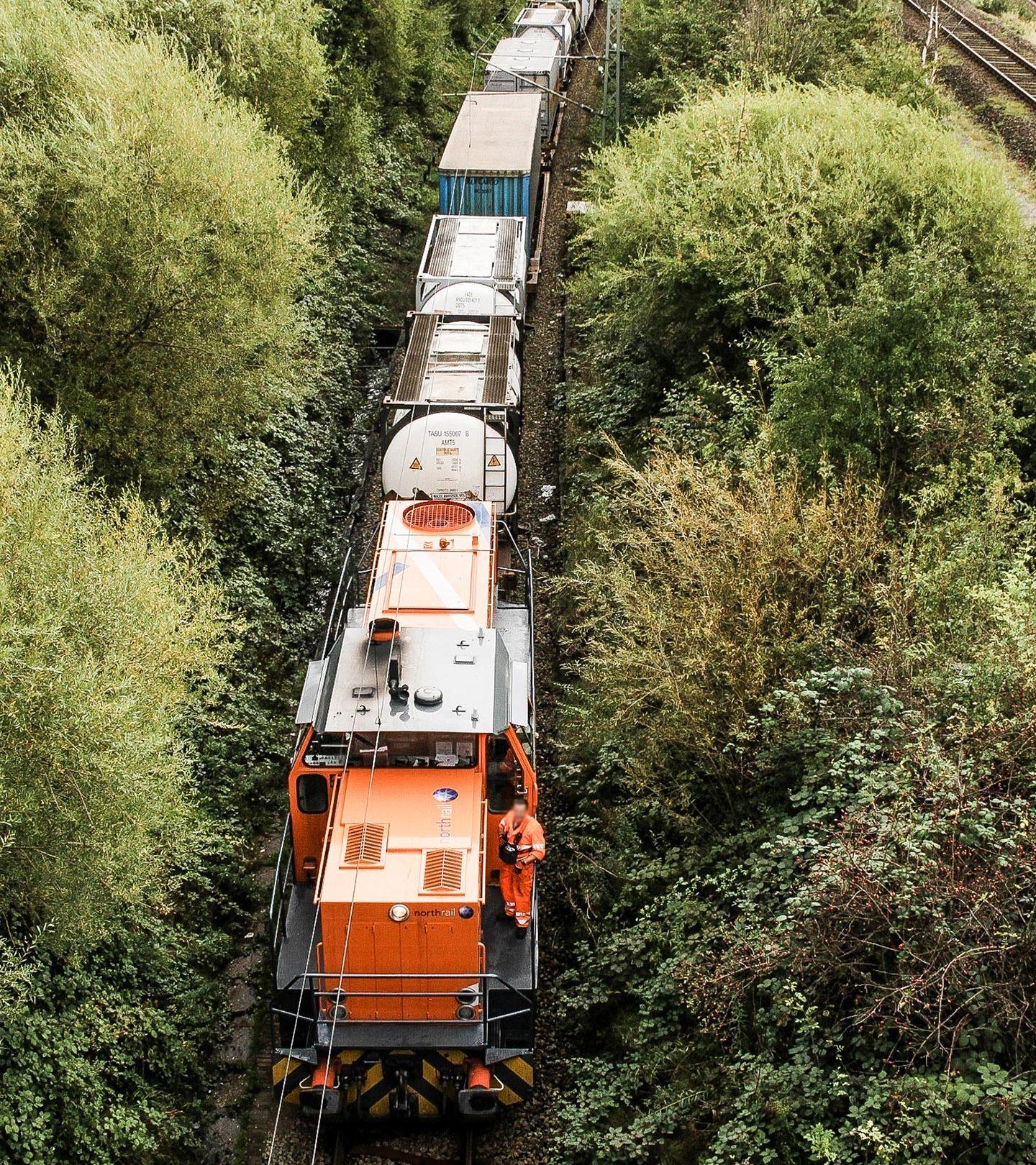 northrail-Lokomotive von oben